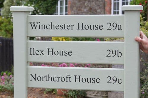 Ladder Sign With 3 Panels and Posts | The Sign Maker Shop